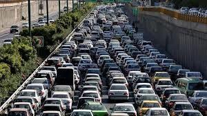 ترافیک سنگین  در آزاد راه قزوین – کرج – تهران