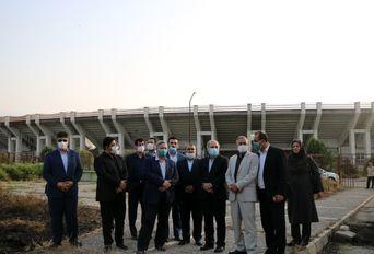 بازدید معاون وزیر ورزش و جوانان از پروژه های ورزشی گلستان
