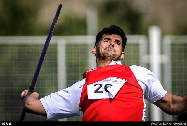 شکستن رکورد ملی پرتاب نیزه در لیگ دوومیدانی توسط دونده گلستانی