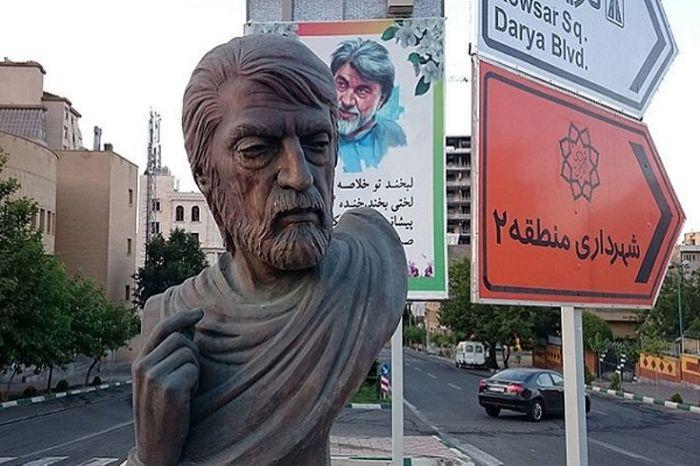 سردیس «قیصرامین پور» شاعر معاصر ایران به سرقت رفت