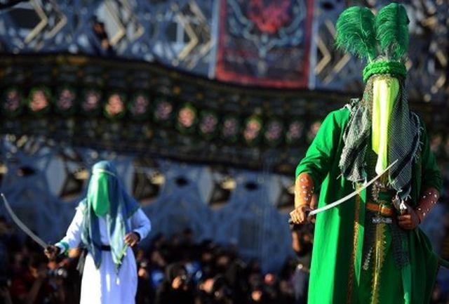 44اجرای تعزیه در ۳ فرهنگسرا و میدان آیینی امام حسین(ع)