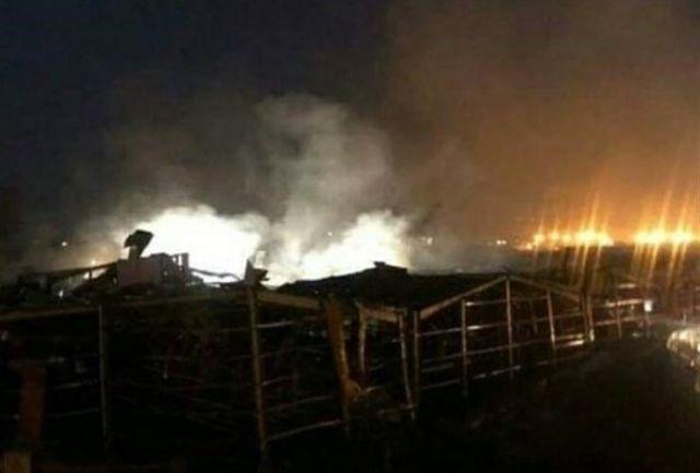 آتش سوزی دوباره در بندر بیروت زبانه کشید