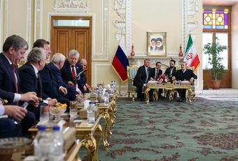 دیدار رییس دومای روسیه با علی لاریجانی