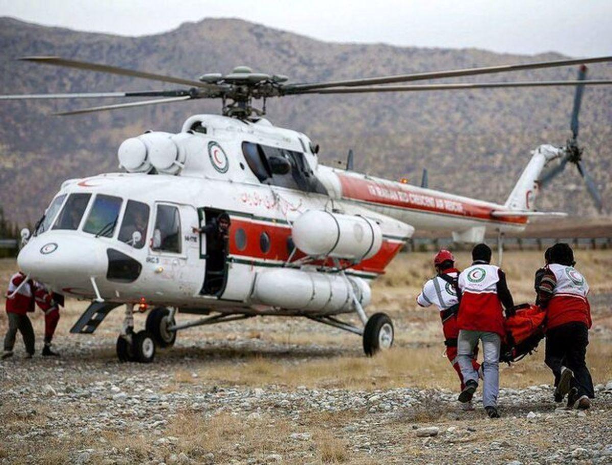 یک فروند بالگرد امداد هوایی به هلال احمر تخصیص یافت