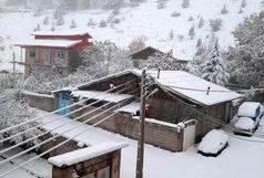 بارش برف پاییزی در گیلان