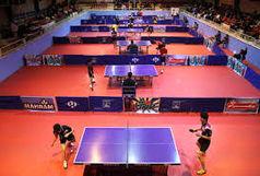 مسابقات چهار جانبه تنیس روی میز در قزوین برگزار شد