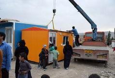 اهدای 3 کانکس به زلزلهزدگان کرمانشاه