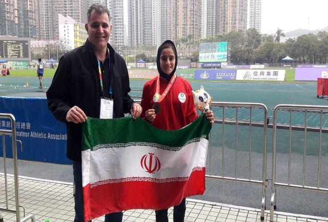 کسب اولین مدال تیم ملی نوجوانان ایران توسط شادکام در 2000 متر بامانع