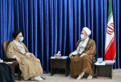 وزیر اطلاعات با آیت الله اعرافی دیدار کرد