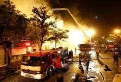 آتشسوزی در انبار دینام در شهرک صنعتی محمودآباد