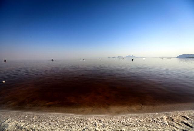 نزدیک به 50 درصد وسعت دریاچه ارومیه، آب دارد