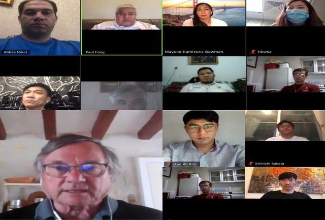 جلسه آنلاین مسئولان کنفدراسیون اسکی روی آب آسیا