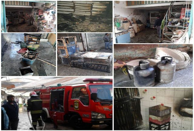 آتش سوزی در بازار رشت/ مصدومیت یک نفر براثرسوختگی