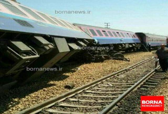 قطار باری ایران - ترکیه از ریل خارج شد