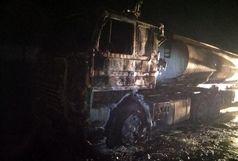 مهار آتشسوزی دوتانکر حامل سوخت بنزین در تبریز