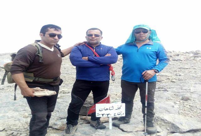 صعود تیم هیات کوهنوردی شهرضا به بام اصفهان
