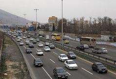 ترافیک در محور شهریار-تهران نیمه سنگین است/ بارش برف در 3 استان