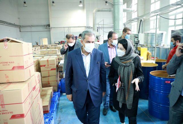 استاندار قزوین از یک واحد تولیدی بازدید کرد
