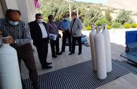 اهدا ۳۲ عدد کپسول اکسیژن به بیمارستانهای لرستان توسط اتاق بازرگانی استان