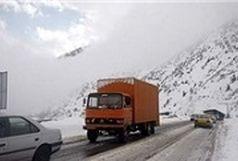 مسدود بودن محور مهاباد به بوکان به دلیل بارش برف