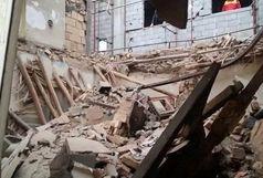 ریزش وحشتناک یک ساختمان در تهران + فیلم