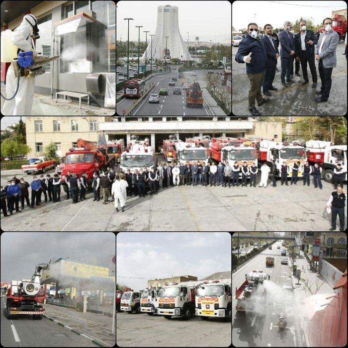 تمامی معابر دومین منطقه بزرگ تهران ضدعفونی شدند