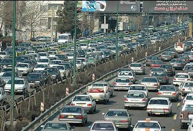 گزارشی از وضعیت ترافیکی شهر تهران در آخرین روز کاری هفته جاری