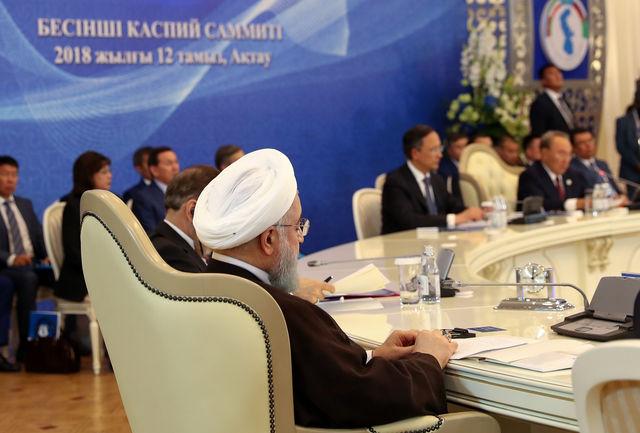 پنج کشور ساحلی دریای خرز شش سند همکاری امضا کردند
