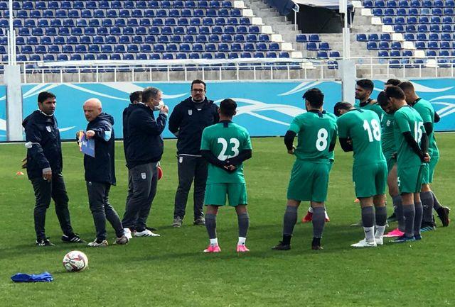 ریکاوری تیم ملی در استادیوم لوکوموتیو