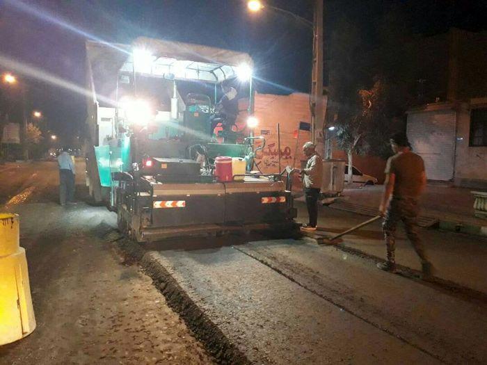 ترمیم و بهسازی خیابان های روستای غنی آباد