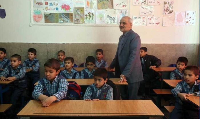 بازدید سرزده وزیر آموزشوپرورش از دبستان چنگیز پور تهران