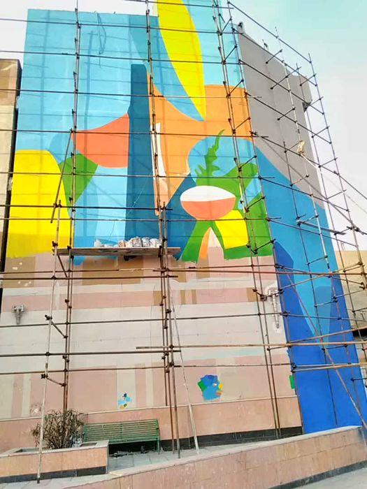 اجرای بزرگترین گالری نقاشی دیواری در جنوب تهران آغاز شد