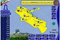 آخرین و جدیدترین آمار کرونایی استان ایلام تا 29 دی 99