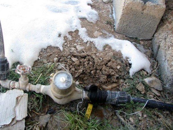 مشترکان آب در آذربایجانغربی مراقب یخزدگی کنتورها باشند
