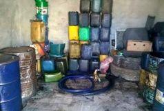 محل دپوی سوخت قاچاق در شهرستان سراوان منهدم شد