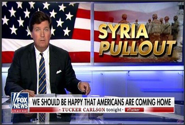 مجری فاکس نیوز از تصمیم ترامپ برای خروج از سوریه حمایت کرد