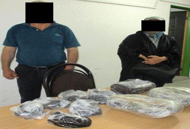 کشف 20 کیلوگرم  مواد مخدر از یک زن و شوهر