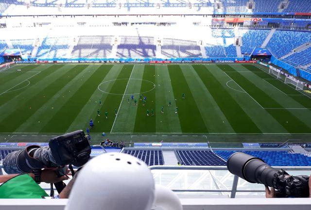 تیم مراکش تمرینات خود را در ورزشگاه سن پترزبورگ پیگیری کرد
