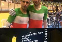 مهدی سهرابی و محمد رجبلو مدال نقره مسابقات مدیسون دوچرخه سواری قهرمانی آسیا را تصاحب کردند