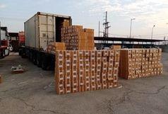 توقیف تریلر حامل ۴۶۴ دستگاه برش سنگ قاچاق توسط پاسگاه