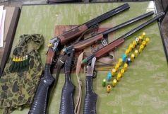توقیف سه قبضه سلاح شکاری از متخلفان در زاهدان