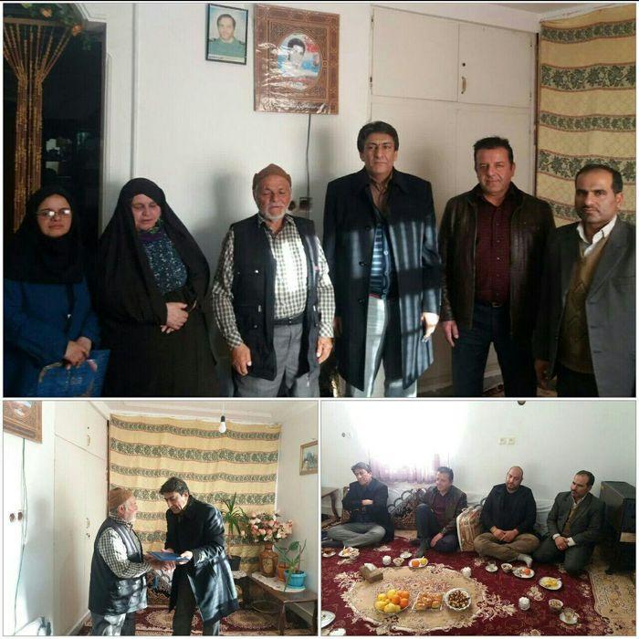 دیدار  مدیریت دانشکده کشاورزی امیرآباد دامغان با خانواده شهید معزز حسنی