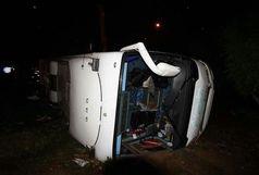 7 کشته و ۳۶ مجروح در حادثه واژگونی اتوبوس راهیان نور در جاده سوسنگرد