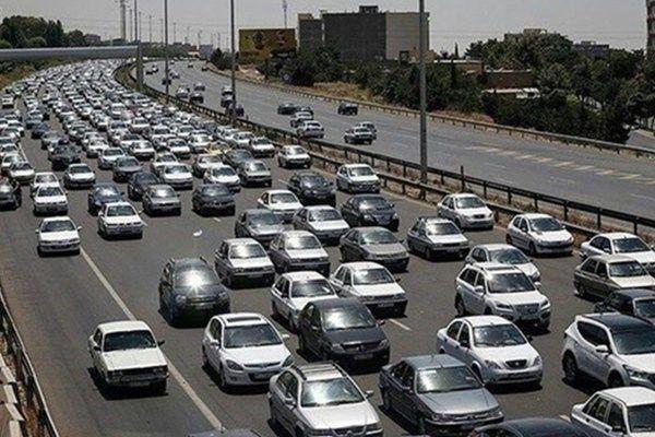 ترافیک در محور شهریار-تهران