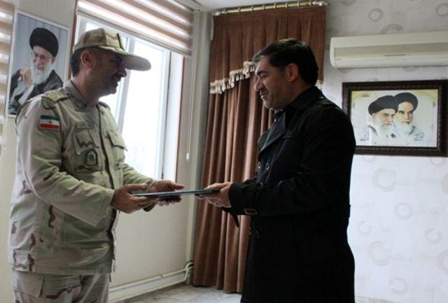 تقدیر فرمانده مرزبانی ناجا از اداره کل ورزش وجوانان استان اردبیل