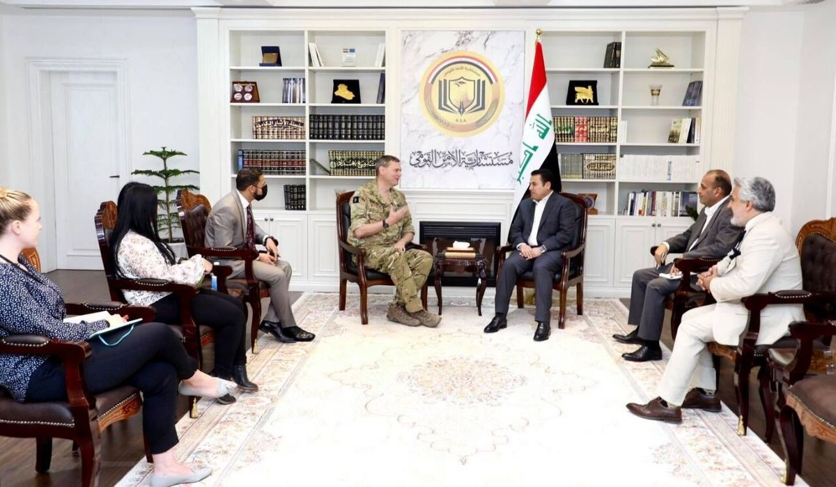 فرمانده آمریکایی با مشاور امنیتی ملی عراق دیدار کرد