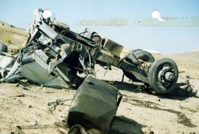 راننده تریلی بر اثر واژگونی خودرو جان باخت