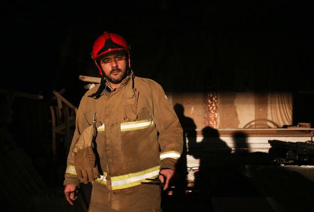 آتش سوزی کارگاه چوب بری