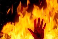 اطفا آتش سوزی در محدوده اوین