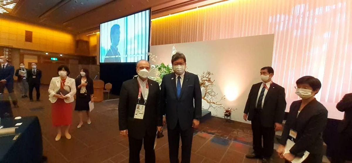 دیدار وزیر ورزش و جوانان با وزیر ورزش ژاپن